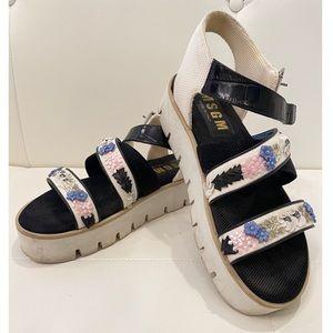 MSGM Platform Sandals Sz 41